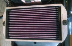 Daytona K&N air filter in custom made frame