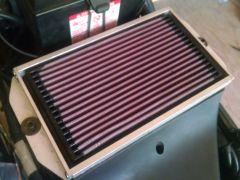 Daytona K&N air filter with custom made frame