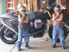 Biker twins